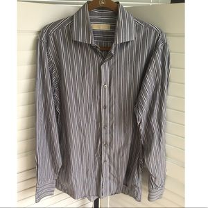 [Michael Kors] Striped Long Sleeve Button Down Med